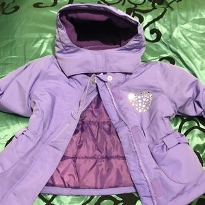 WonderKids Winter Jacket with Hood and Bling 12mo